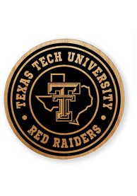 Texas Tech Red Raiders Alder Wood 2.75 Inch Laser Etched Round Magnet