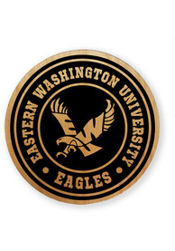 Eastern Washington Eagles Alder Wood Coaster