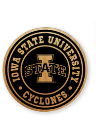 Iowa State Cyclones Alder Wood Coaster