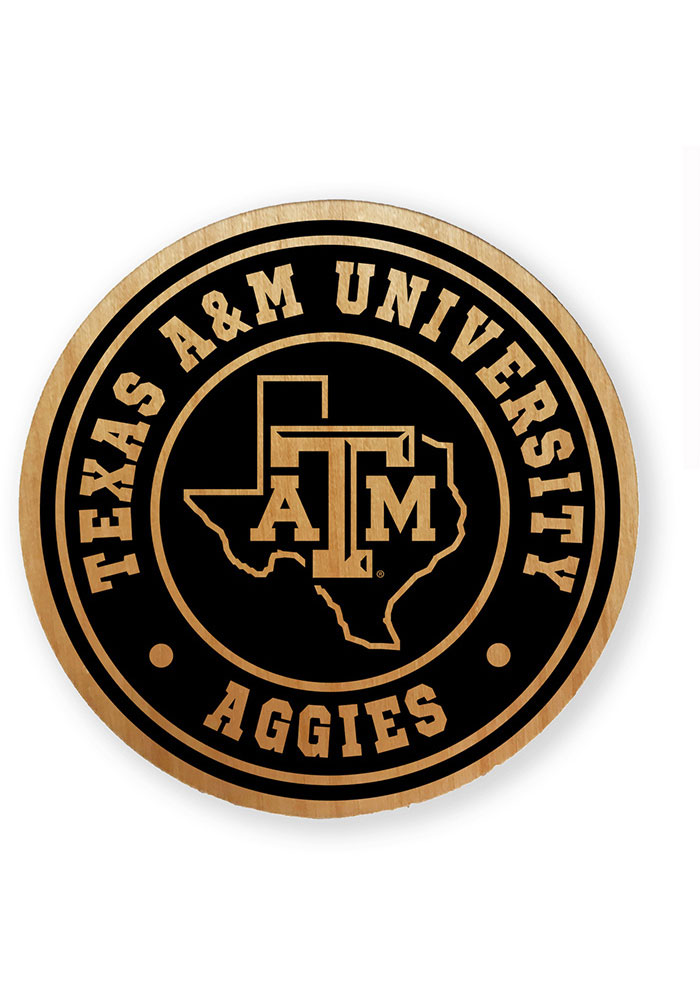 Texas A&M Aggies Alder Wood Coaster - Image 1