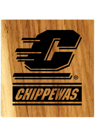 Central Michigan Chippewas Barrel Stave Bottle Opener Coaster
