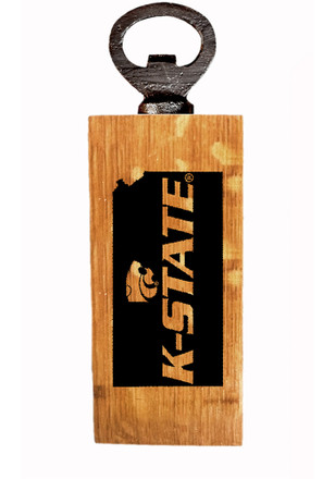 K-State Wildcats State Logo Outline Mini Bottle Opener