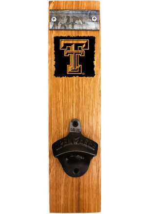 Texas Tech Red Raiders Logo Barrel Stave Bottle Opener