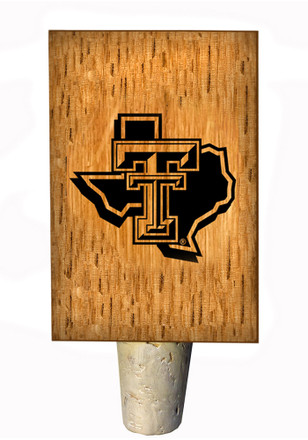 Texas Tech Red Raiders State Logo Bottle Stop Wine Accessory