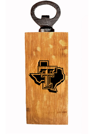Texas Tech Red Raiders State Logo Outline Mini Bottle Opener
