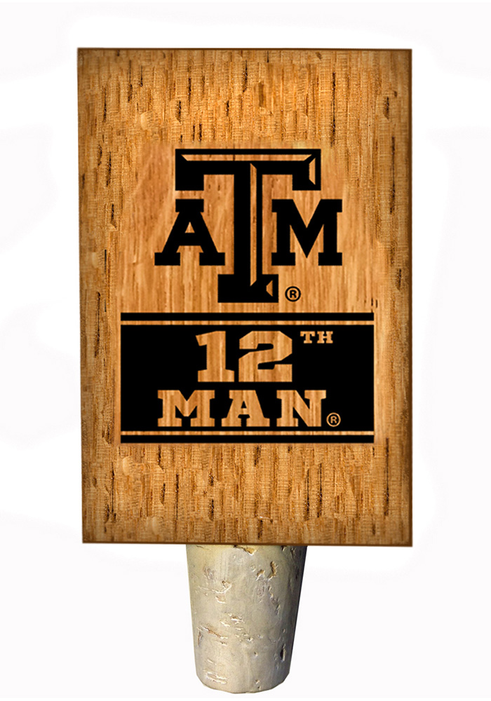 Texas A&M Aggies 12th Man Bottle Stop Wine Accessory - Image 1