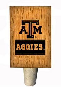 Texas A&M Aggies Wordmark Bottle Stop Wine Accessory