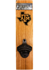 Texas A&M Aggies State Logo Barrel Stave Bottle Opener