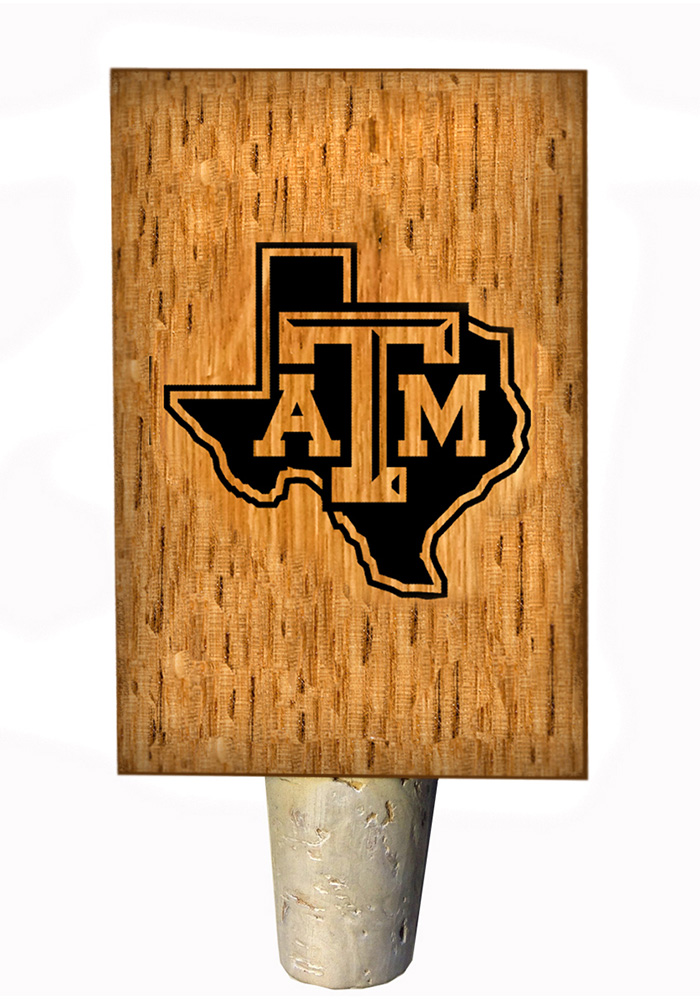 Texas A&M Aggies State Logo Bottle Stop Wine Accessory - Image 1