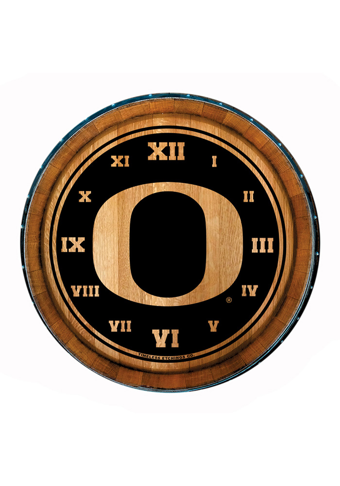 Oregon Ducks Barrelhead Wall Clock - Image 1