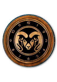 Colorado State Rams Barrelhead Wall Clock