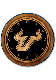 South Florida Bulls Barrelhead Wall Clock