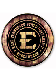 East Tennesse State Buccaneers Barrelhead Sign