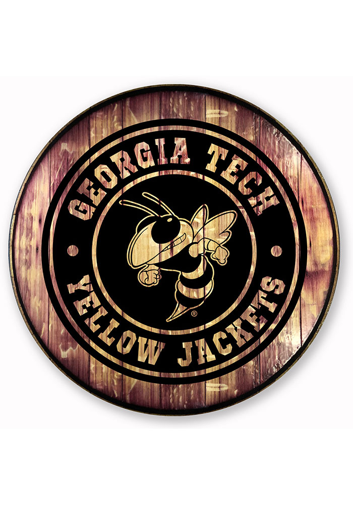 GA Tech Yellow Jackets Barrelhead Sign