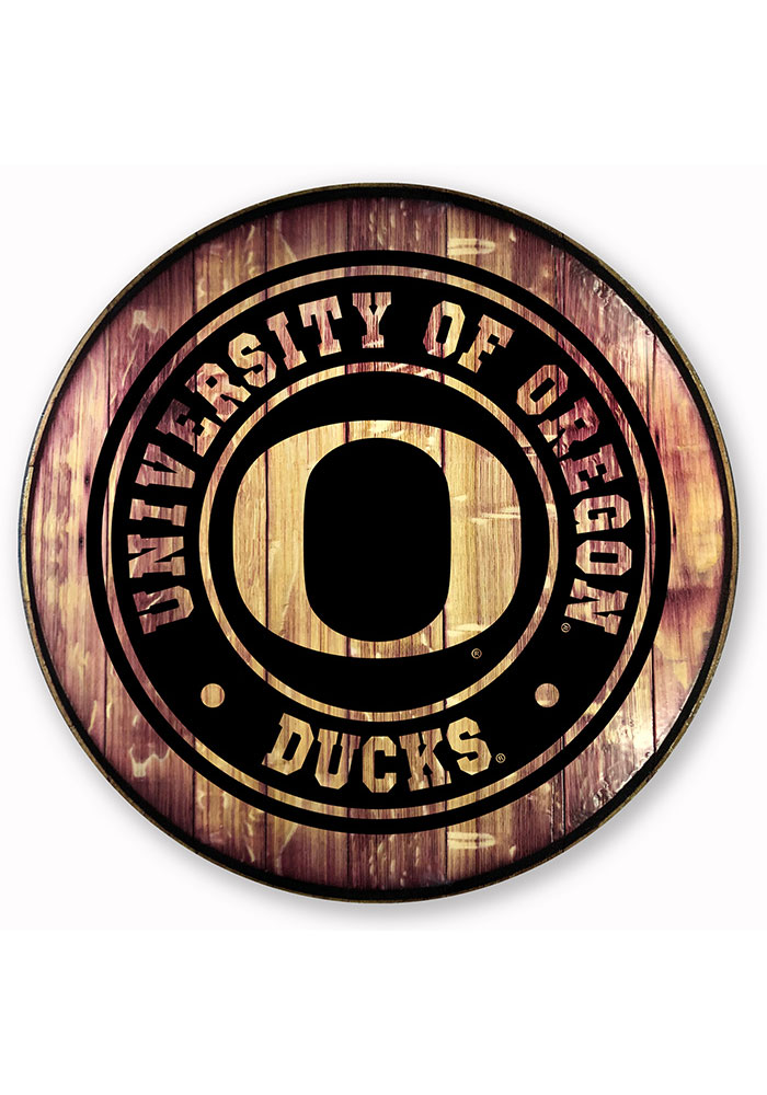 Oregon Ducks Barrelhead Sign