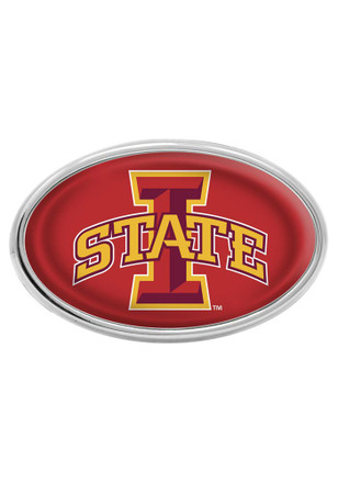 Iowa State Cyclones Red Domed Oval Car Accessory Car Emblem