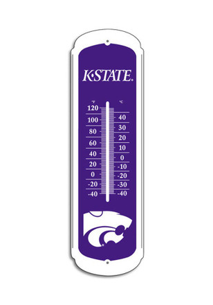 K-State Wildcats 12in Purple Themometer Weather Tool