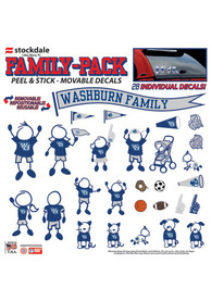 Washburn Ichabods 12x12 Family Pack Auto Decal - Blue