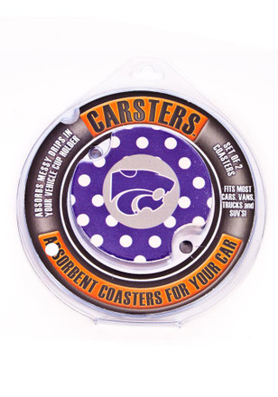 K-State Wildcats 2 Pack Polka Dot Auto Car Coaster