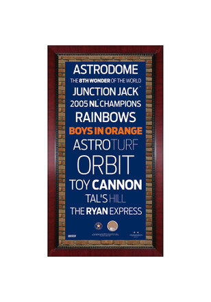 Houston Astros Subway Sign Plaque