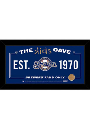 Milwaukee Brewers Kids Cave Sign Plaque