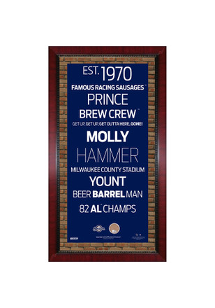 Milwaukee Brewers Subway Sign Plaque