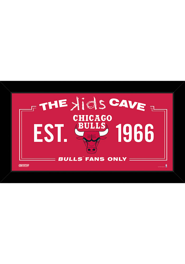 Chicago Bulls Kids Cave Sign Plaque - Image 1