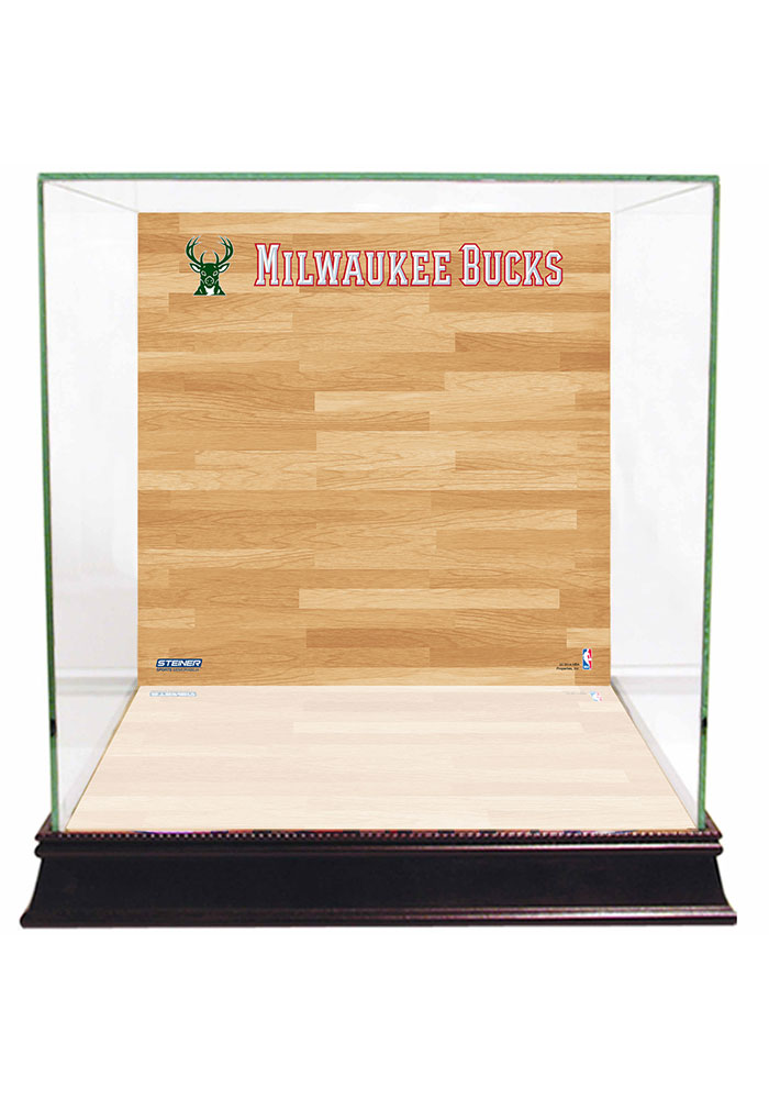 Milwaukee Bucks Brown 12x12x11 Display Case - Image 1
