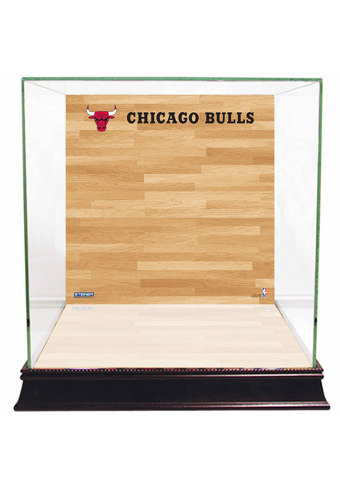 Chicago Bulls Brown 12x12x11 Display Case - Image 1