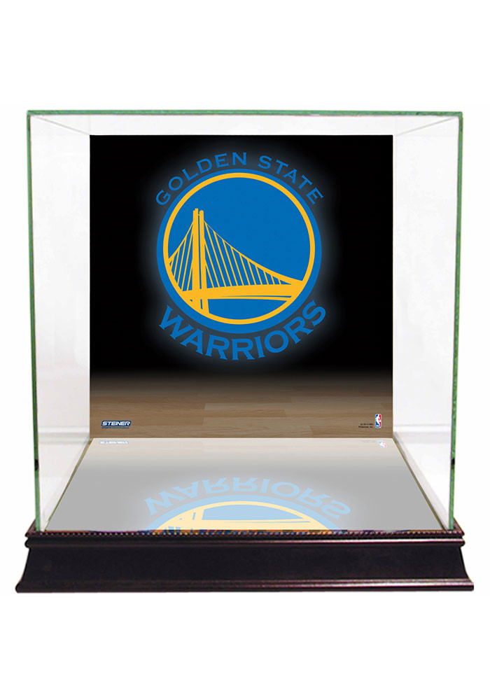 Golden State Warriors Brown 12x12x11 Display Case - Image 1