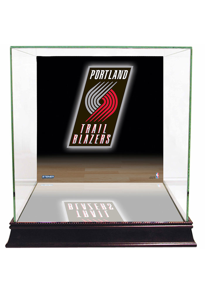 Portland Trail Blazers Brown 12x12x11 Display Case - Image 1