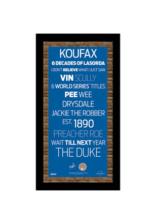 Los Angeles Dodgers 9.5x19 Framed Posters