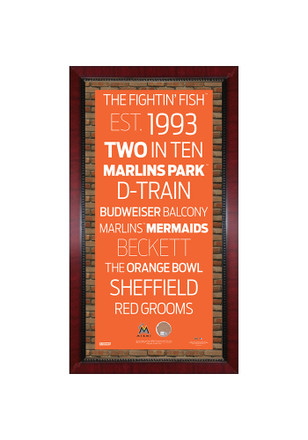 Miami Marlins 16x32 Framed Posters