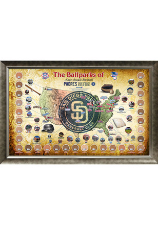 San Diego Padres Major League Baseball Parks Framed Posters