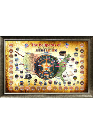 Houston Astros Major League Baseball Parks Framed Posters
