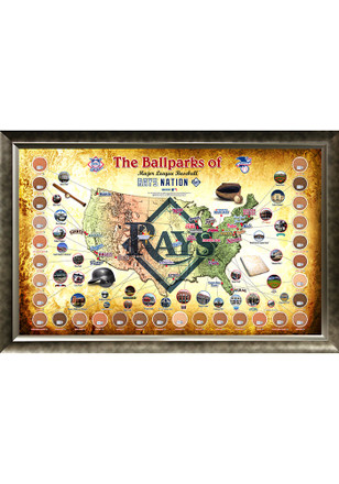 Tampa Bay Rays Major League Baseball Parks Framed Posters