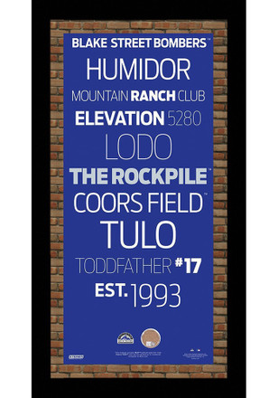 Colorado Rockies 9.5x19 Framed Posters