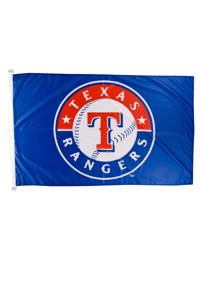 Texas Rangers 3x5 Blue Grommet Blue Silk Screen Grommet Flag - Image 1
