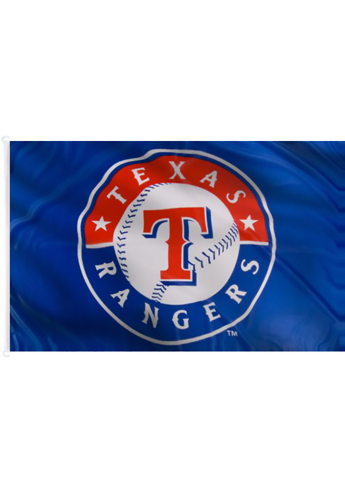 Texas Rangers 3x5 Blue Grommet Blue Silk Screen Grommet Flag - Image 2