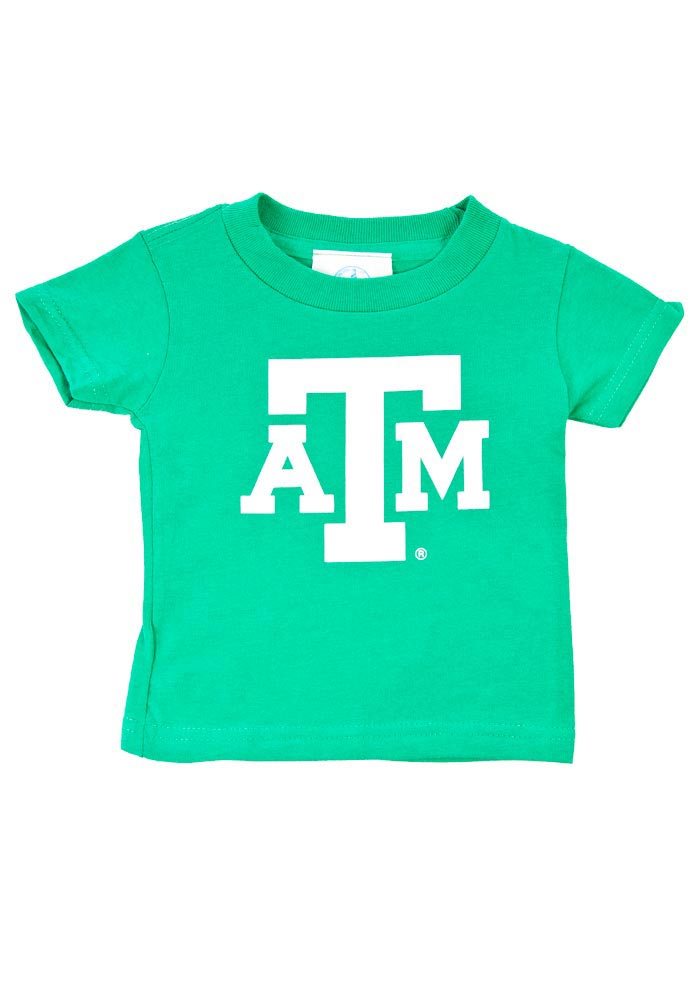 Texas A&M Aggies Infant St. Pats Short Sleeve T-Shirt Green - Image 1