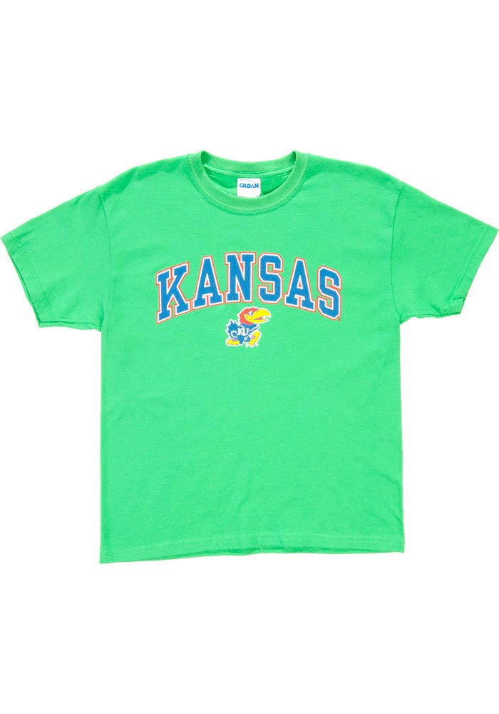 Kansas Jayhawks Youth Green Arch T-Shirt