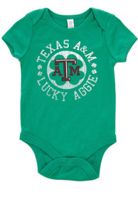 Texas A&M Aggies Baby Green St. Pat Circle One Piece