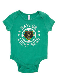 Baylor Bears Baby Green St. Pat Circle One Piece