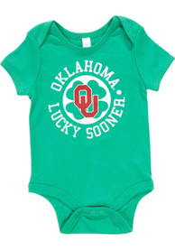 Oklahoma Sooners Baby Green St. Pat Circle One Piece
