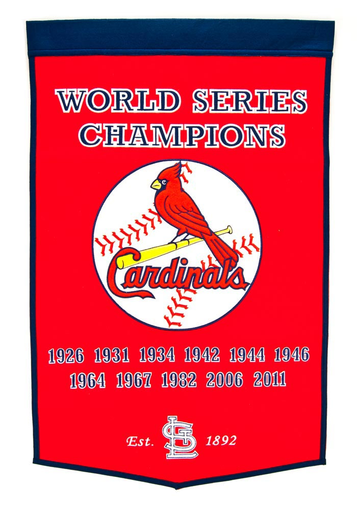 St Louis Cardinals 24x38 Dynasty Banner - Image 1