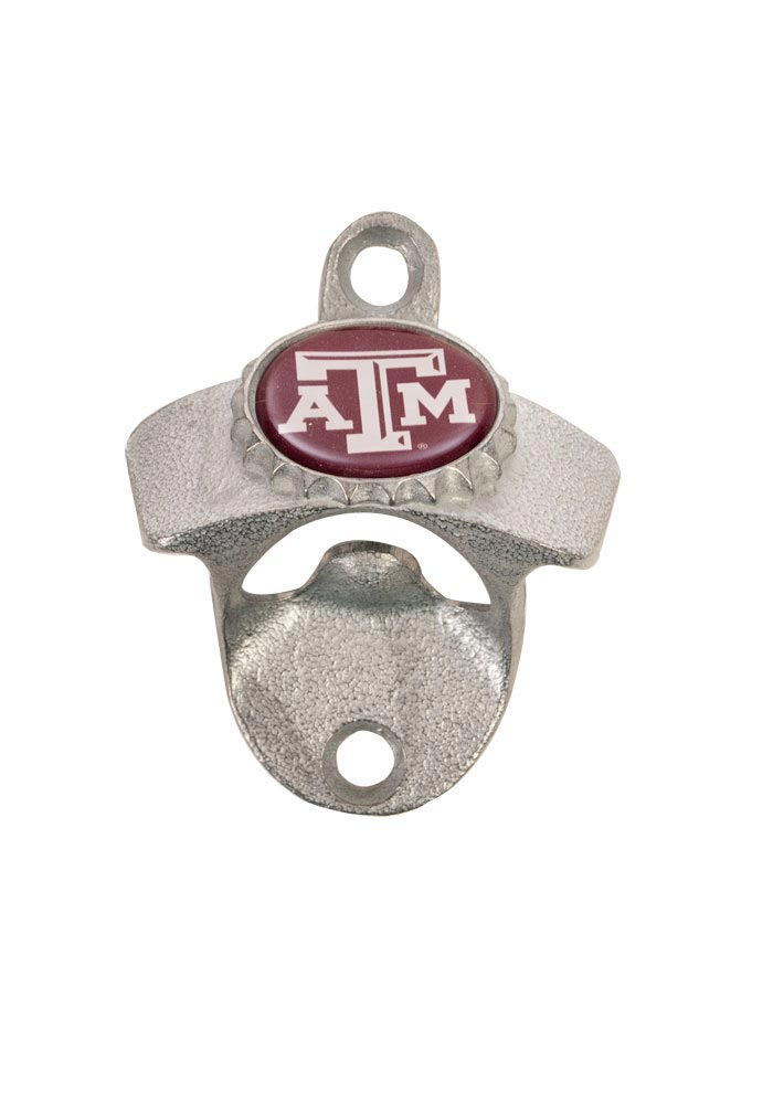 Texas A&M Aggies Silver Wall Mount Bottle Bottle Opener - Image 1