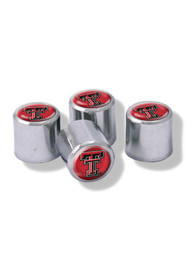 Texas Tech Red Raiders 4 Pack Auto Accessory Valve Stem Cap