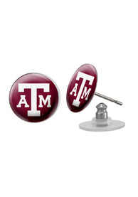 Texas A&M Aggies Womens Domed Post Earrings - Maroon