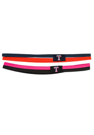 New Era Texas Rangers 2 Pack Elastic Womens Headband