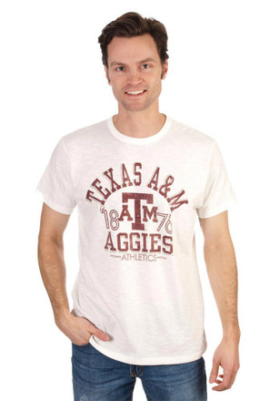 '47 Texas A&M Aggies Mens White Arch Fashion Tee